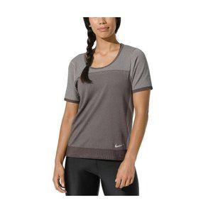 New Nike Womens Gray Infinite Running Shirt Small